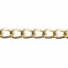 Aluminum Chain 16.2x10mm Gold Cut Link 25m/spool